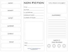 NonFiction Student Worksheet, Free, PDF, student worksheet, TeachersPayTeachers.com, Ruth S.