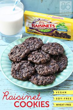 Livvy shares my Vegan Raisinet Cookies on @86Lemons .com!