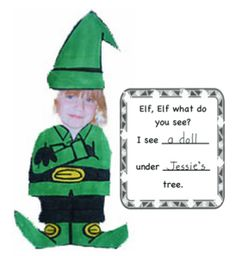 Elf craft and writing activity