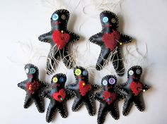 large voodoo doll brooch pin or barrette by Storied on Etsy