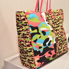 #MMissoni | Multicolor Camouflage Shopping Bag | Summer 2014 Collection