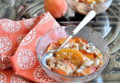 Healthy peach breakfast