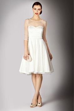 Un vestido vintage, ideal para boda civil..