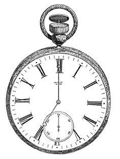 vintag digit, clock, vintage, clip art, digit stamp, pockets, pocket watches, digital stamps, printabl