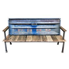 Upcycle truck tailgate into bench. Ford. Fab.com | Furniture With Recycled Roots