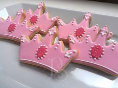 Princess Tiara Birthday Cookies by Pum's Sweets on Etsy