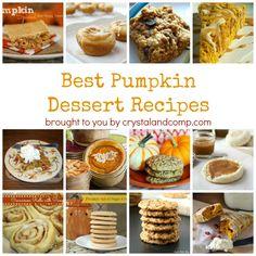 15 Best Pumpkin Dessert Recipes.  Try something besides pie this year!