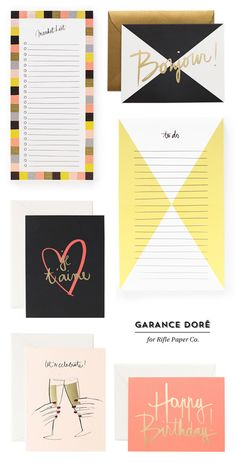 Garance Dore for Rifle Paper Co.