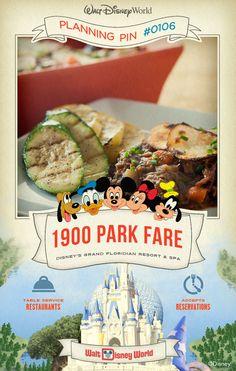 Walt Disney World Planning Pins: 1900 Park Fare