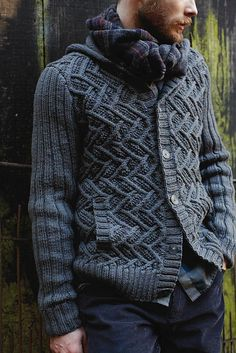 sweaters, martin storey, sweater patterns, knitting patterns, settler, grey, men, wool, rowan pattern