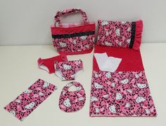 Hello Kitty Cheetah Diaper Bag and Diapers with by cupcakecutiepie, $42.00