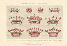 Wonderful French crowns for crosstitch