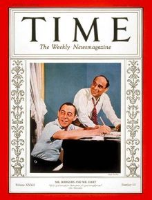 Richard Rodgers & Lorenz Hart on the cover of Time magazine, Sept 26, 1938.