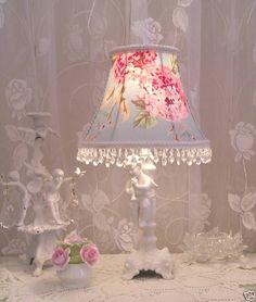 #Lampshade #Ashwell Hydrangea Rose #Fabric Shabby Cottage | eBay store www.shabbyshades.com