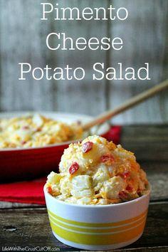 Pimento Cheese Potato Salad The best potato salad ever!!!  #pimentocheese #potatosalad