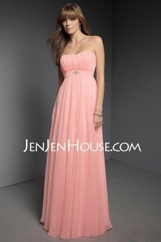 Bridesmaid Dresses - $117.99 - A-Line/Princess Strapless Floor-Length Chiffon  Charmeuse Bridesmaid Dresses With Ruffle (007004093) http://jenjenhouse.com/A-line-Princess-Strapless-Floor-length-Chiffon--Charmeuse-Bridesmaid-Dresses-With-Ruffle-007004093-g4093