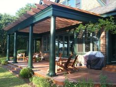 cottag patio, backyard idea, colors, arbor, pergola idea, patios, garden, design, trelli