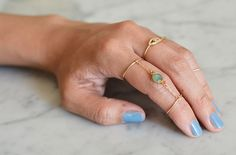 #diy chain linked double #rings #tutorial #diy_jewelry #diyjewelry