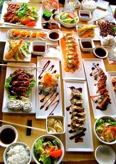 asian foods, buffet, dreams, japanese cuisine, dream come true, sushi party, dinners, parti, heavens