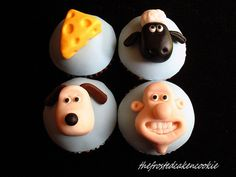 Wallace and Gromit Cupcakes omgoodness! It's Shaun the sheep!