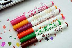Crayola marker stamps