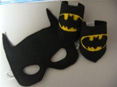 superhero mask and arm cuffs