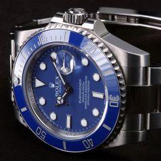 Blue Dial White Gold Rolex Submarine