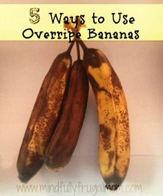 5 Ways to Use OverRipe Bananas.