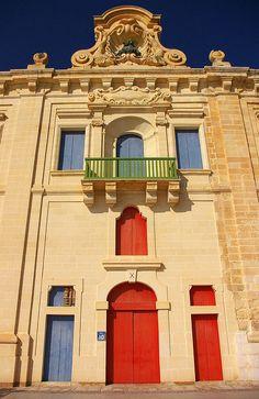 A facade in the Valletta Waterfront in Malta