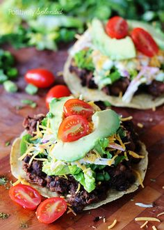 These chicken and black bean tostadas are a snap to make. Perfect for weeknights!