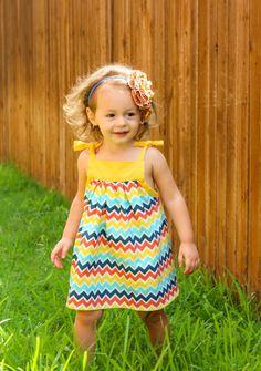 Girls Dress Chevron Summer Dress for Girls by HappyLittleDress, $30.00