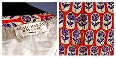 Vintage Original 1960s JEAN PATOU Shantung Silk dress