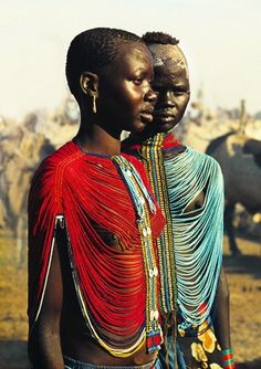 Corseted Dinka girls