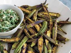 "Skillet-Roasted Spiced Okra (or slice them lengthwise and bake with olive oil into okra ""fries."")"