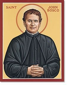 St. John Bosco. A Catholic saint who was often accompanied by a huge dog who protected him from harm. The dog came to him once nearly 30 years after his first appearence, to guide John to safety after he had lost his way. A guardian angel? guardian angels