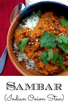 GrokGrub.com - Sambar (Indian Onion Stew) - Paleo, easy to adapt to vegan and vegetarian! It's also gluten-free and dairy-free