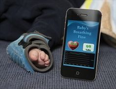 BYU student invented a SIDS baby monitor! Wireless sock monitor alerts parents if baby stops breathing. Genius!!!