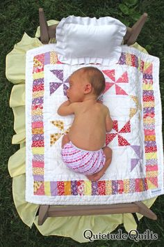 """Pretty little doll quilt and someone's precious little baby """"doll""""... Border idea for TIC quilt"""