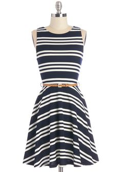 All Bands on Deck Dress, #ModCloth