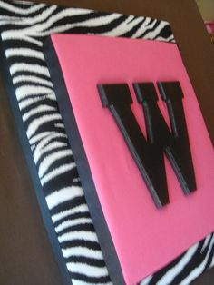 Zebra with letter... (for Zoey's room)