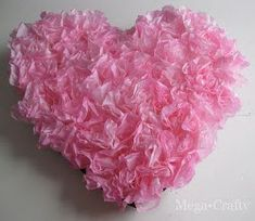 Hearts and Flowers Wreath using coffee filters - great craft to do with my Little : )