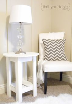Thrifty and Chic - small diy nightstand