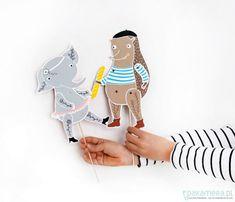 DIY Paper Puppets via Mia Milu