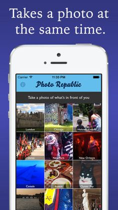 Photo Republic, An App That Tasks Users With Taking a Photograph Once a Day at the Same Time