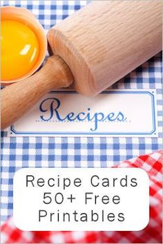free recipe card downloadables, cute retro ones!
