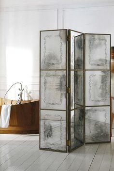 venetian glass, glass screen