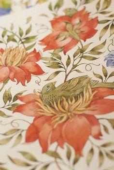 bird, floral patterns, art paintings, graphic designers, painting flowers, watercolor pattern, pattern design, tetiana kartasheva, flower patterns