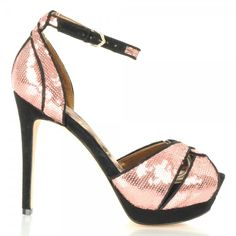 Paisely Women's Sequin Peep Toe Shoe in Pink by Sam Edelman