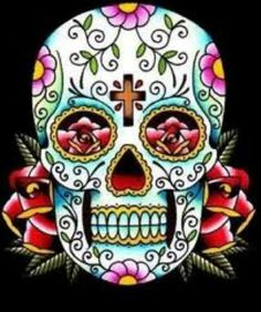 candy skull = Dia de los muertes