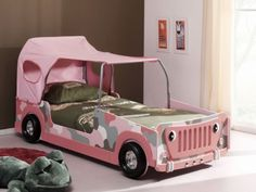 cute girls bed